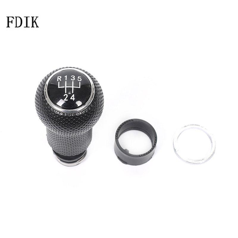 FDIK <font><b>5</b></font> Speed Black Shift Gear Knob For <font><b>VW</b></font> <font><b>Golf</b></font> 4 Bora Jetta <font><b>GTi</b></font> MK4 1998 2001 2002 2003 2004 Auto <font><b>Accessories</b></font> 12MM 23MM image