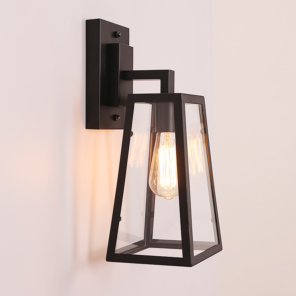 Retro American Rural Wall Sconce Creative Wall Lamp Edison Dulb Glass Box Wall Light Balcony Restaurant Bar Corridor Led Lamp american rural retro wall lamp nordic industrial loft sconce creative restaurant bar aisle bedside lamp outdoor wall light e27