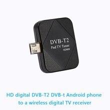 Mini DVB-T2 DVB-T Receptor Tdt HD Sintonizador de TV digital para Android Mini USB HD TV del Receptor del Sintonizador para el Teléfono Android Tablet PC