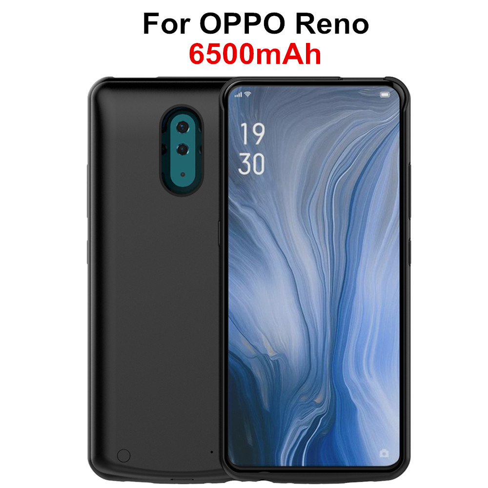NTSPACE 6500mAh Battery Charger Cases For OPPO Reno Power Bank Charging Case Extenal Powerbank Cover