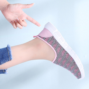 Image 5 - STQ 2020 Summer Women Shoes Women Breathable Mesh Sneakers Shoes Ballet Flats Ladies Slip On Flats Loafers Shoes Plus Size E39