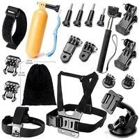 for GoPro Accessories Kit For Go Pro SJCAM SJ4000 SJ5000 SJ7000 Action Camera Accessories Set For Hero 6 5 4 3 3+ 2 1 Xiao Mi Yi