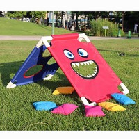 1 Set Cornhole Boards With 6 Bean Bags Outdoors Children Entertainments Playground Sandbags Sports Set For Kids Girls Boys