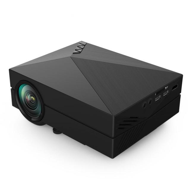 GM60 MINI Proyector LED Portátil Para Juegos de Video TV Inicio Cine teatro Soporte HDMI VGA AV SD GM60 Con Envío regalo