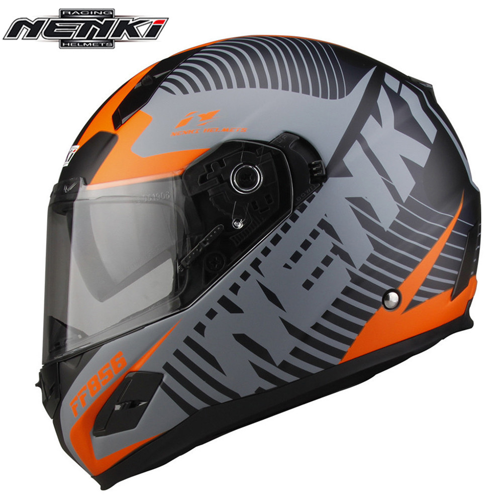 Full Face Motorcycle Helmet Capacetes de Motociclista Moto Helmets for Motorcycle Racing Helmets Fiberglass Matte Painted nenki motorcycle helmets motocross racing helmet motorbike full face helmet capacete de moto for men and women 13 color