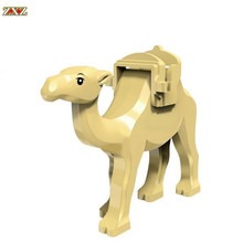 Única Venda Aventura Na Selva Blocos Camel Com Sela Conjunto Maravilha Figuras de Ação Bricks modelo Dolls Kid Brinquedos Diy Legoingly