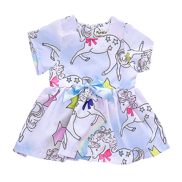 b7a35052 Floral Pig Kids Baby Girl Dress Cute Unicorn Short Sleeve Dress for Girls  Summer for Clearance