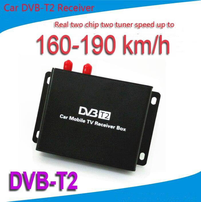 Мобильный автомобиль DVB-T2 цифровой ТВ-приемник две микросхемы две скорости антенны до 160-190км/ч ДВБ Т2 Автомобильный ТВ-тюнер формата MPEG4 SD и HD с разрешением 1080p