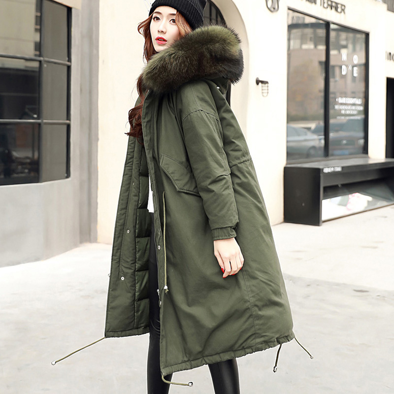 Winter Coat Women Warm Woman Parkas Female Overcoat High Quality White Duck Down Jacket Feather Coat 2017 New Winter Army Green high quality real fur female winter in the new middle aged down jacket women white duck down sundae feather thick coat l 5xl