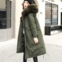 Winter Coat Women Warm Woman Parkas Female Overcoat High Quality White Duck Down Jacket Feather Coat 2018 New Winter Army Green