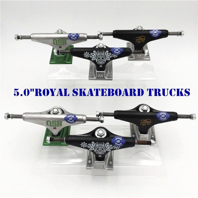 New Arrived Silver Black Blue USA ROYAL Aluminum Alloy Pro Skateboard Trucks 5.0