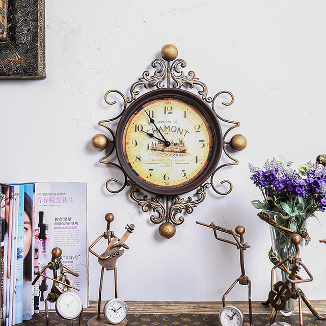 The new personalized fashion big 3d wall clock European – style living room fashion clocks and watches office decorative clock