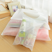 Buy 10pcs/lot Plastic Storage Bag Matte Clear Zipper Seal Travel Bags Zip Lock Valve Slide Seal Packing Pouch For Cosmetic Clothing directly from merchant!