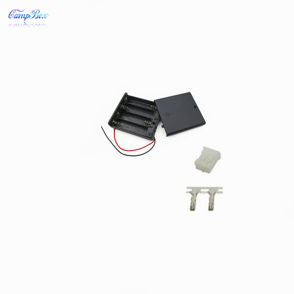 30Pcs 4xAA Battery Case Holder Socket Wire Junction Boxes With Wires Switch Cover PH 2 0