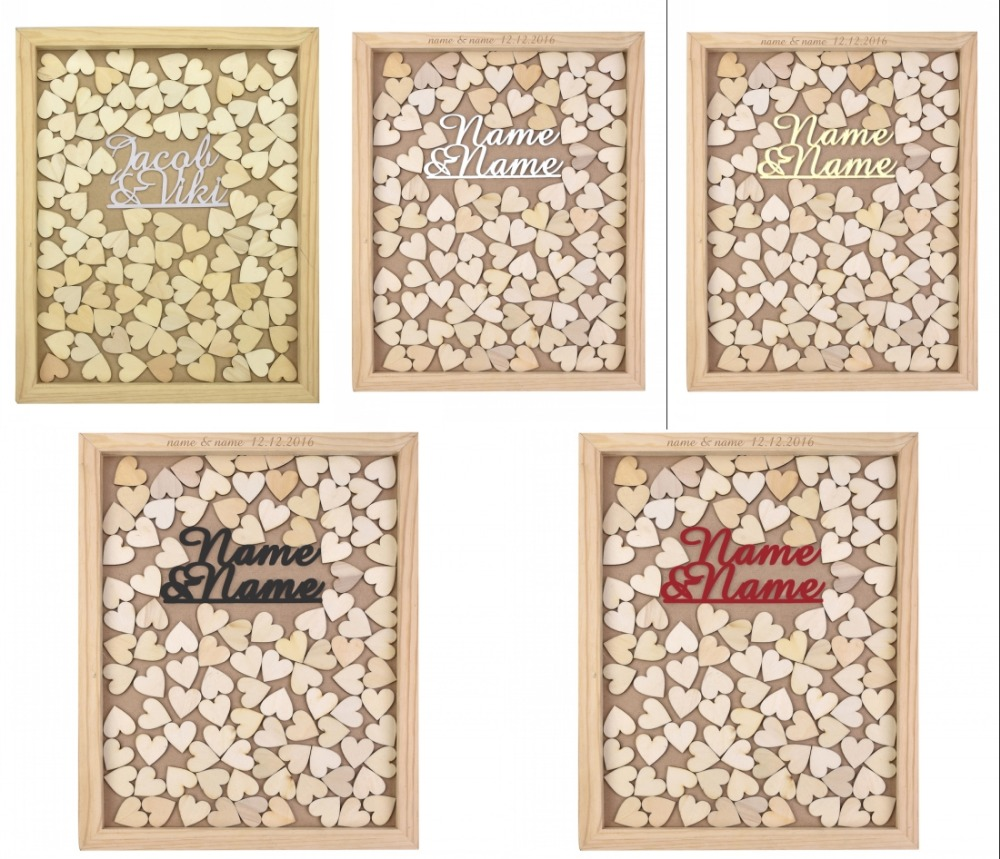 Personalizado grabado boda libro de invitados de madera rústica ...