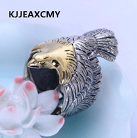 925 sterling silver jewelry retro eagle eagle wings open men's ring jewelry jewelry free shipping