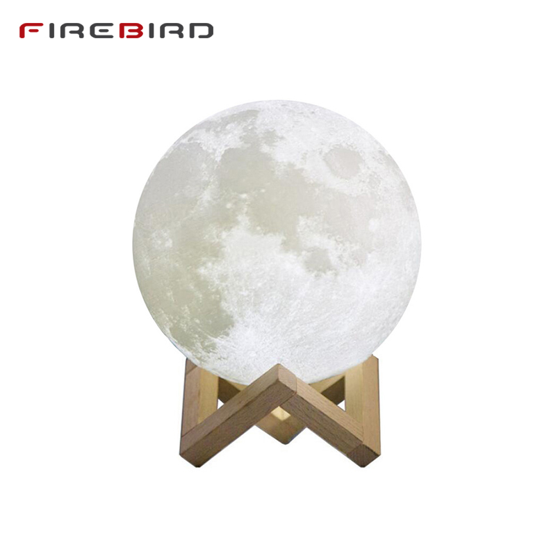 LED Night Light Moon Lamp For Child 3D Print 16 Colors Change Remote Control Bedroom Night Lamp Home Decor Creative Kid's Gift led night light 3d print moon lamp luna magic touch full moonlight portable 2 colors change baby gift lights for home decor