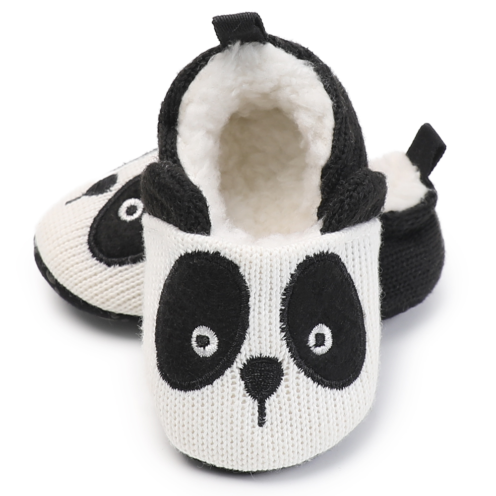 MouseS&Panda Animal Pattern Kids Home Slippers Children For Girls Boy House Indoor Shoes Warm Winter Bedroom Baby Shoes  0-18 M
