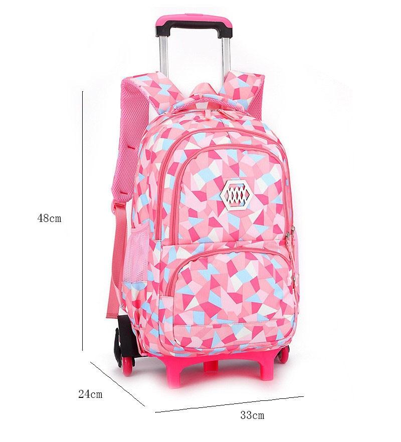 2/6 roues enfants Trolley sac d'école sac à dos à roulettes sac d'école pour les garçons Grils détachable enfants sacs à dos imperméables-in Sacs d'école from Baggages et sacs    2