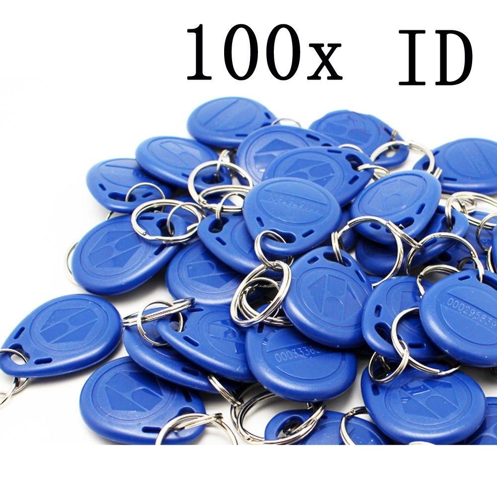 wholesale free shipping 100 pcs/lot 125kHz RFID Proximity ID Token Tag Key Keyfobs rfid key fob UNWRITABLE for door entry system