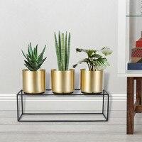 Golden flower pot home decoration gold stainless steel wrought iron metal flower stand flower flower pot floor stand