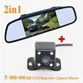 Promoção Por Atacado 5 polegada TFT LCD de Visão Traseira Do Carro Espelho Monitor + HD CCD Câmera de Visão Traseira Do Carro para Espelho Retrovisor