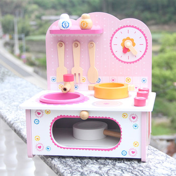 Baby Toys Pink Strawberry Simulation My Little Kitchen Wooden Toys PretendPlay Food Kitchen Toys Child Educational Birthday Gift baby toys