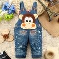 75-95cm Height Infant Children's Jeans 2017 Fashion Cute Animal Boy Clothes Kids Suspenders Girl Denim Overalls Baby Bib Set
