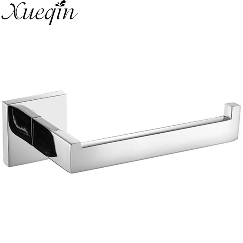 Xueqin Bathroom Toilet Paper Holder Wall Mount Polished 304 Stainless Steel Chrome Towel Rack Roll Paper Tissue Holder stainless steel toilet paper holder papier toilette encastrable wall mount wc paper holder bathroom roll paper holder basket