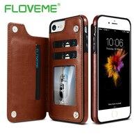 FLOVEME Luxury Wallet Case For IPhone 6 6S Bracket Type Leather Card Holder Kickstand Flip Back