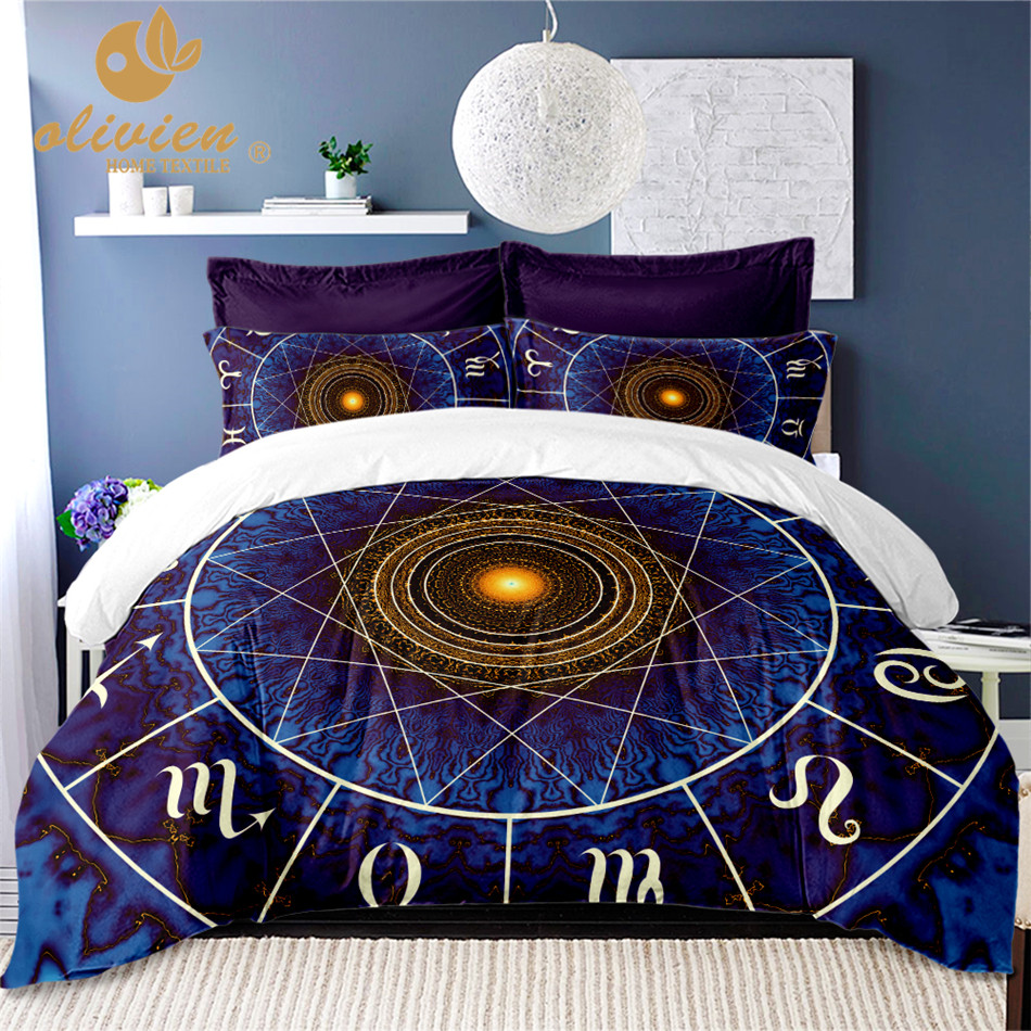 Star Constellation Bedding Set Bohemia Mysterious Design Duvet Cover Queen King Size Bedding Cover 3D Bedclothes Home Textile