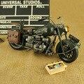 Feito à mão Modelo Estanho Retro Clássico Harley-Davidson Artesanato Desktop qualidade do trabalho de arte de Decoração Para Casa presente toy kid