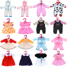 2018 New Fashion Style Hot Sale Handmade Doll Clothes Party Dress Skirt Doll Pajamas 18 inch 18inch doll girls Doll Accessories(China)