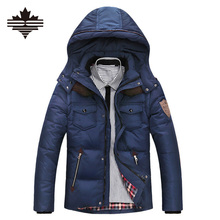 Толстая пуховик утка осенью зимой вниз молнии капюшоном твердые куртка повседневная