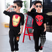 Spiderman boys clothes cotton sweater Suit toddler clothing kids clothes children clothing Fit 1 2 3 4 5 6 7 8 years boys