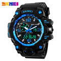 SKMEI Hombres Relojes de pulsera de Moda Casual Reloj Analong-DigitalLED Reloj de Alarma Luz de Fondo Grande