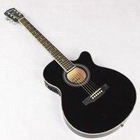 40 EQ Guitar Acoustic Electric Steel String Balladry Folk Pop Thin Body Flattop Guitarra 6 String