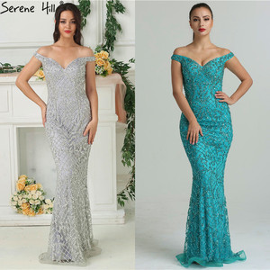 Image 3 - 2020 Luxury High end Fashion Mermaid Evening Dresses Newest Diamond Sequined Sexy Formal Dress  Real Photo LA6406