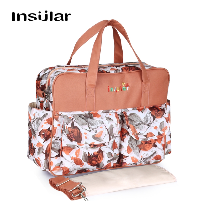 INSULAR Fashion Large Travel Diaper Bag Nappy Messenger/ Totes Stroller Baby Bags For Mom With Changing Pad