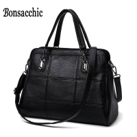 High Fashion Brand Bag Hand Bag Women S Genuine Leather Handbag Large Black Leather Tote Bag