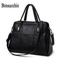 High Fashion Brand Bag Hand Bag Women S Genuine Leather Handbag Large Black Leather Tote Bag