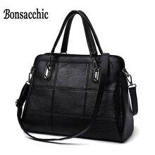 High Fashion Damen Handtasche frauen Aus Echtem Leder Handtasche Große Schwarze Leder Einkaufstasche Bolsas femininas Weiblichen Umhängetasche