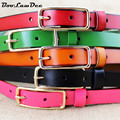 BooLawDee Newest women casual cowskin waistband belts with alloy pin buckle width 1.8cm green red black rose color 8C034