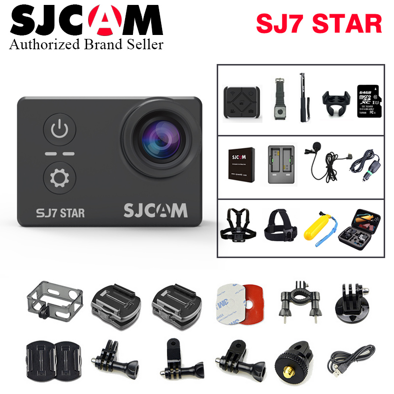 Action Camera SJCAM SJ7 Star Wifi 4K 30fps Gyro 2.0 Inch Touch Screen Ambarella A12S75 Sport Camcorder SJCAM SJ7 Mini DV CAM