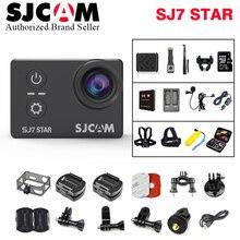 Действие Камера SJCAM SJ7 Star Wi-Fi 4 К 30fps гироскопа 2.0 дюймов Сенсорный экран Ambarella A12S75 Спорт видеокамера SJCAM SJ7 мини DV Cam