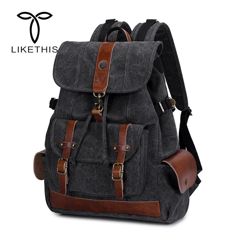 2018 New Backpacks for Men School Bag Canvas Laptop Travel Backpack Waterproof  School Bags for Teenage Boys2018 New Backpacks for Men School Bag Canvas Laptop Travel Backpack Waterproof  School Bags for Teenage Boys