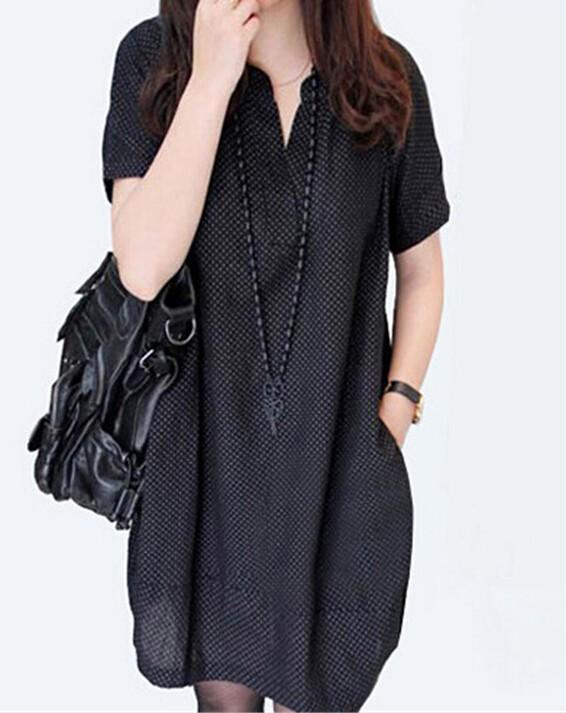 43aa53bb7a30f Korean Fashion Maternity Dresses Dots Linen V Neck Autumn Summer ...