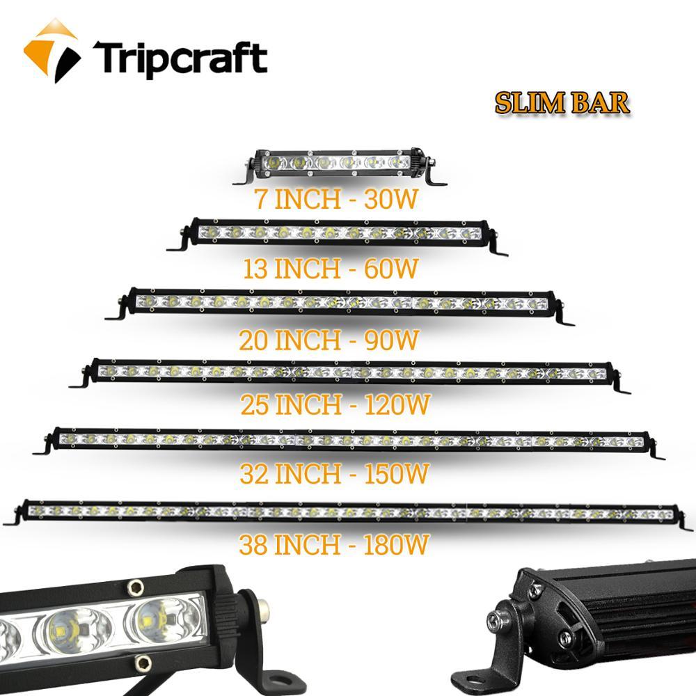 LED WORK LIGHT BAR 12V 24V Auto Headlights Slim Car Driving Lamp 7
