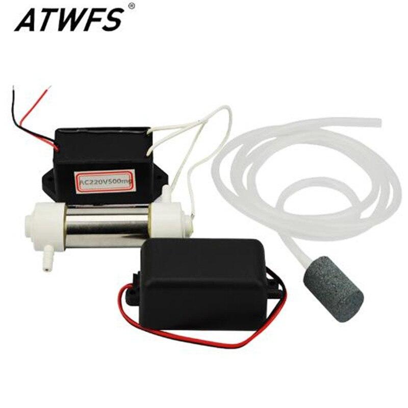220V 500 mg/h generador de ozono esterilizador portátil purificador de aire para acuario hogar máquina generadora de ozono CE RoHS