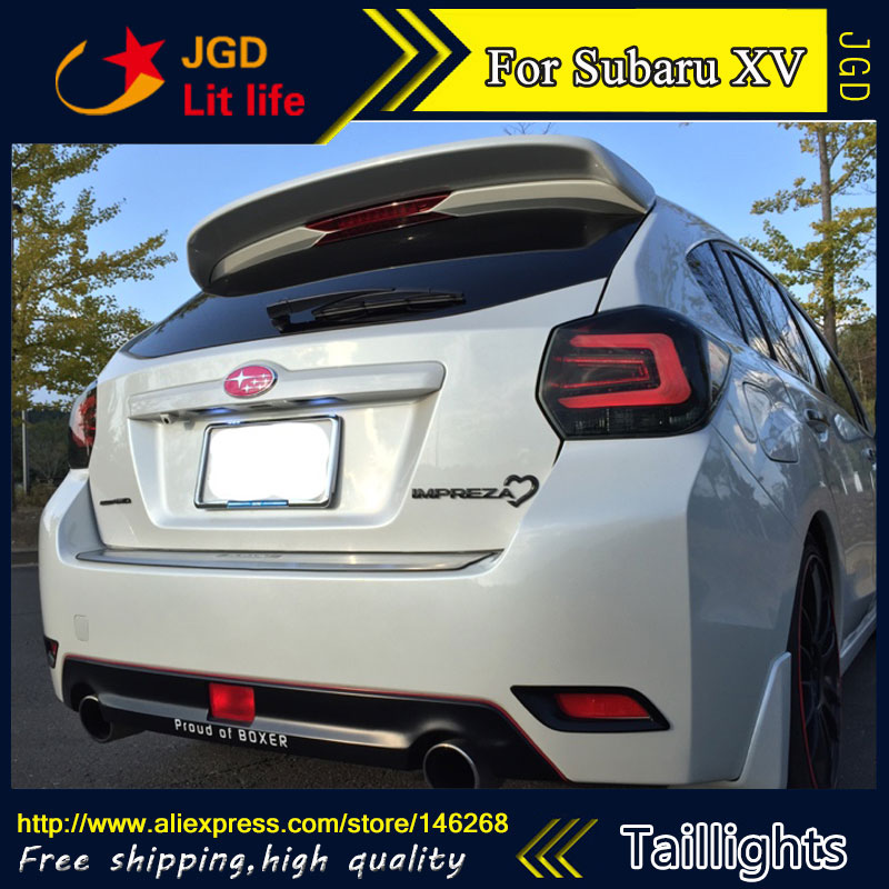 Car Styling tail lights case for Subaru XV 2013-2016 taillights LED Tail Lamp rear trunk lamp cover drl+signal+brake+reverse car styling tail lights for chevrolet captiva 2009 2016 taillights led tail lamp rear trunk lamp cover drl signal brake reverse